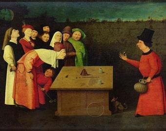 Hieronymus Bosch: The Conjuror. Fine Art Print/Poster. (003624)