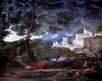Nicolas Poussin: The Storm. Fine Art Print/Poster. (003432)