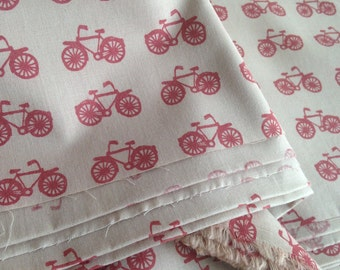 Bicycle print, Organic Cotton,Cycle Print, Indian Fabric, Boho Fabric, 23 inches, india fabric by the yard,hand dyed fabric,madder print
