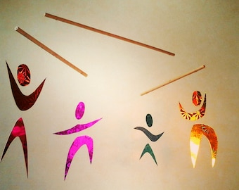 The dancers inspired Montessori mobile