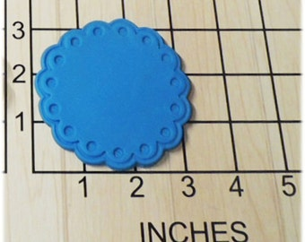 Scalloped Edge Fondant Cookie Cutter and Stamp #1159