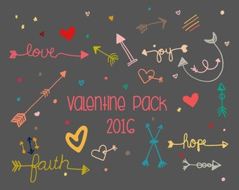 Valentine 2016 Vector Pack