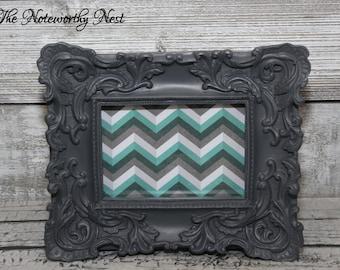 Dark Gray Frame // ornate frame // baroque frame // Cottage decor // 4x6 frame // unique frame // bedroom decor // victorian frame