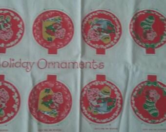 Vintage Strawberry Shortcake Fabric ornament panel NWT