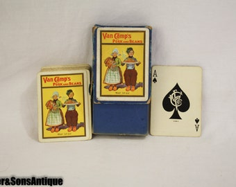 1930's Van Camps Pork and Beans Playing Cards!