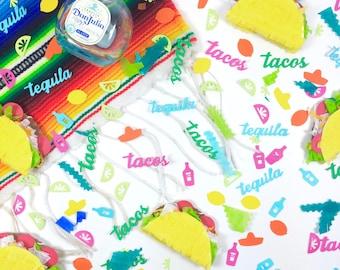 Tacos and Tequila Confetti, Cinco de Mayo, Mexican Fiesta, Bachelorette, Piñata filling, Taco Party, 1 CUP OF CONFETTI