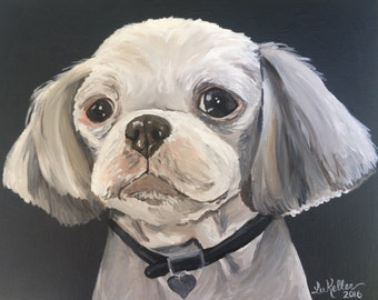 Shih Tzu  art print from original Shih Tzu Painting
