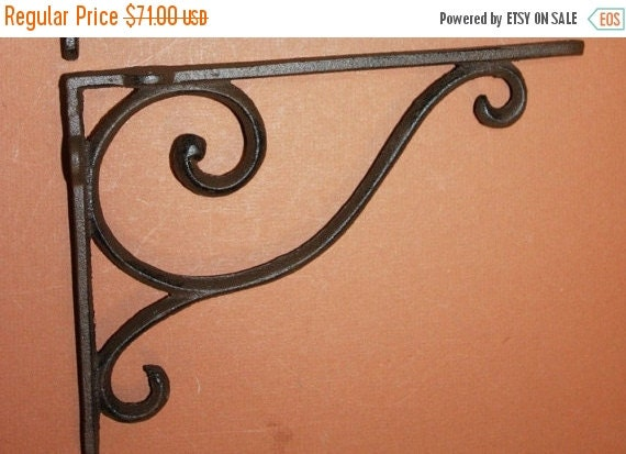 ON SALE 8 Pcs Elegant Shelf Brackets Corbels By WePeddleMetal
