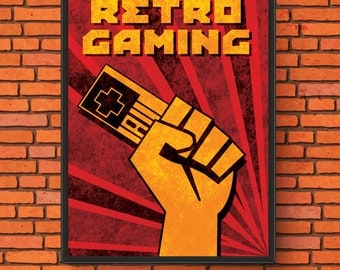 Retro Gaming Propaganda Semi-Gloss Print