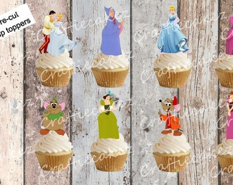 24 x Pre cut Edible Cinderella Stand Up Cupcake Toppers