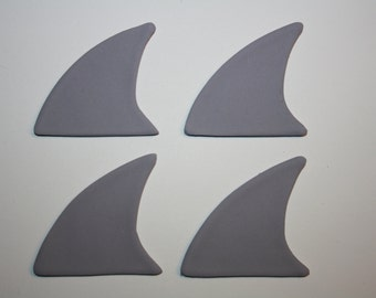 Fondant Shark Fin - 1 dozen ANY COLOR