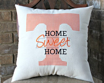 Home Sweet Home Tennesse Throw Pillow - Tennessee Orange
