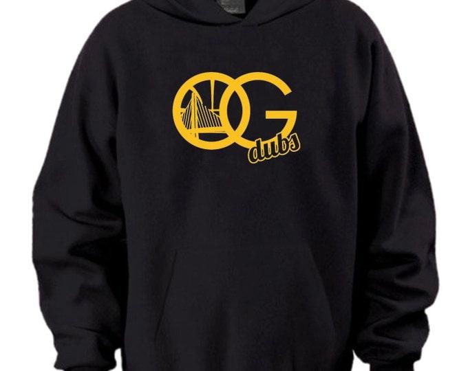 """Golden State Warriors """"OG Dubs"""" Fan Oakland Logo Hoodie Sweater Black Yellow"""