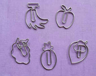 Fruit paperclip set (5 clips)