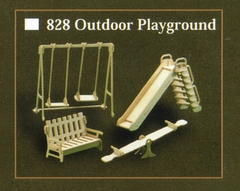 OUTDOOR PLAYGROUND Model Furniture Kit in 12th Scale for Dolls House, Brand New