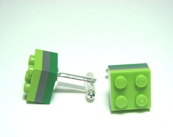 3 Tier Colour Block LEGO(R) Plate Cufflinks - Silver plated - Handmade. Gift for any LEGO(R) lovers! Colour options. Gifts for Men.