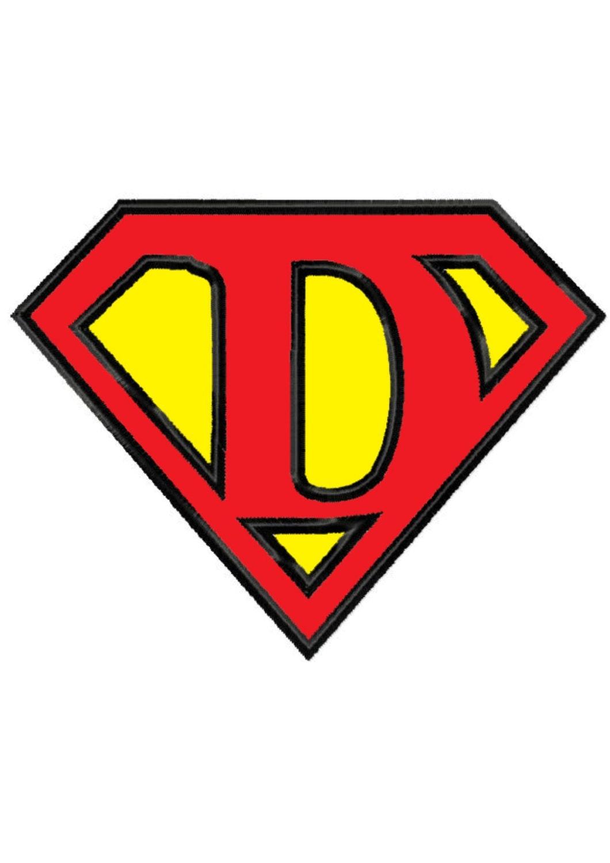 superman logo letter d wwwimgkidcom the image kid