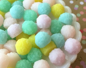 Gum Drop Cabochons, Candy Drop Cabochons, Candy Cabochons (8 pcs) Pastel Colors, Fake Sugar Candy  , Hard Candy Cabochons