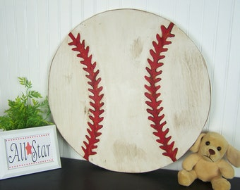 Wooden Baseball Sign Baseball Wall Decor Boys Room Decor Baseball Decor Kids Room Decor Sports Nursery Baseball Nursery Vintage Sports Decor