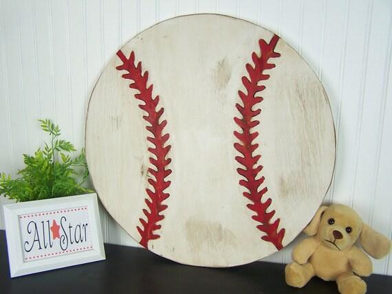 Wooden Baseball Sign Baseball Wall Decor Boys Room Decor