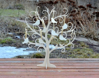 Baby Shower decorations, Wishing Tree with 50 tags, Baptism decor