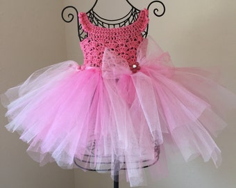 Pretty in Pink Tulle Party Dress 12m.