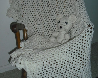 Baby Blanket and Bear Combo