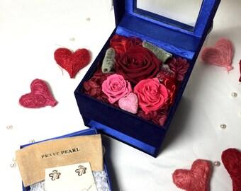 Pearlina Floura Earrings & Love Box