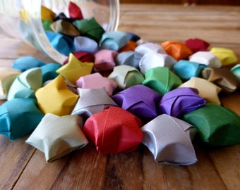 Lucky Origami Paper Stars - 50 Coloured Stars