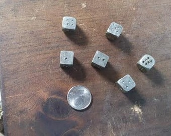 Pewter Dice - Reproduction 18th century Soldier's Game