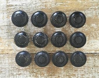 Drawer Pulls 12 Drawer Knobs Black Drawer Pulls Dresser Drawer Knobs Cabinet Door Pulls Decorative  Knobs Mid Century Hardware Antique Knobs