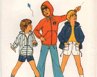 """Vintage sewing pattern Simplicity 6955 Boy's Pants or Shorts and Unlined Jacket Chest 23"""""""