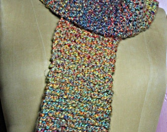 Chunky Handknit Retro/Vintage Winter Scarf #3