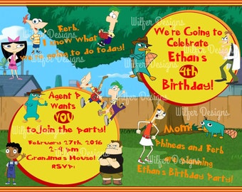 Phineas & Ferb Birthday Invite