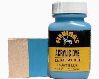Fiebing's Acrylic Light Blue Leather Paint 2 oz. (59mL) 2604-11