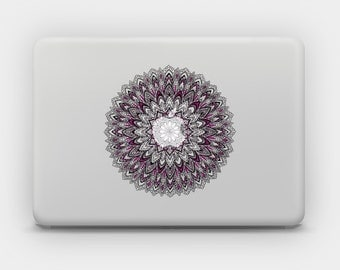Transparent Sticker Decal for MacBook or Laptop - Pink Mandala