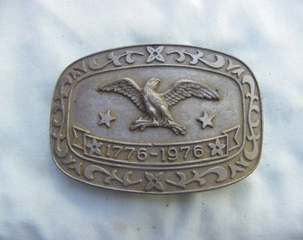 Vintage • American 1776-1976 100 years Belt Buckle | United States of America | Made in USA American Eagle Celebrity brand