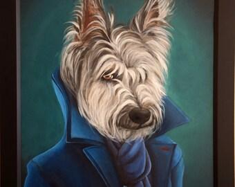 custom Pet painting  portrait on canvas