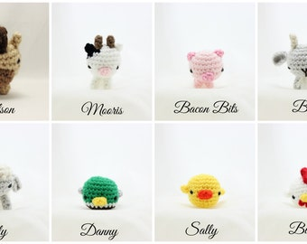 Farm Animals - Horse, Cow, Pig, Goat, Lamb, Duck, Chick, Rooster