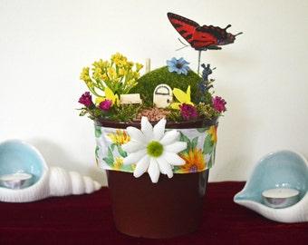 Fairy Garden, Fairy Garden Pot, Table Decor, Table Accent, Ready to Ship!
