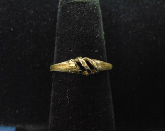 Womens Vintage Estate .925 Sterling Silver Ring 1.0g, E2466
