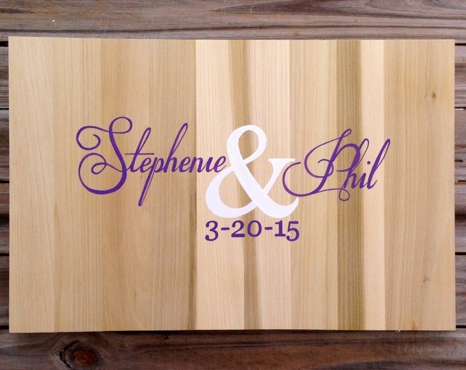 Wedding Guestbook Wood Sign with Decorative Pen, Wedding Guest book Ideas, Alternative Gues Book