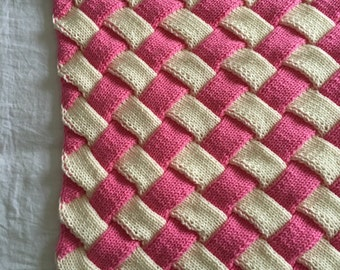 Handmade Knitted Blanket - Throw