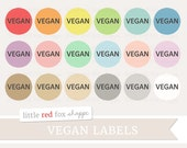 Vegan Label Clipart, Food Label Clip Art Food Allergy Ingredients Banner Tag Cute Digital Graphic Image Design Small Commercial Use