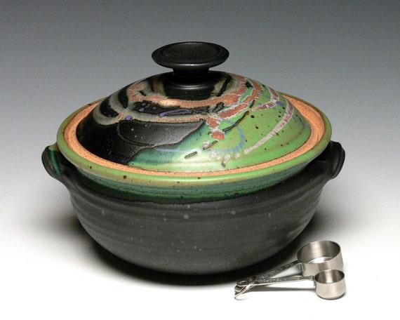 Ceramic Stoneware Baking : Pottery casserole dish covered bowl baking ceramic
