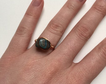 Imperial Turquoise Nugget Ring