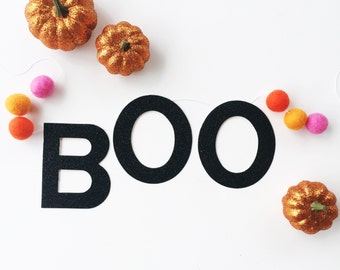 BOO banner with woolies