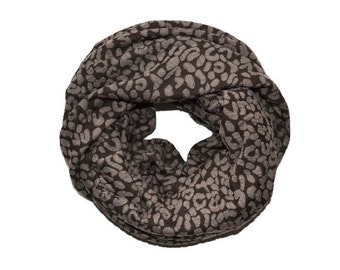 Animal print Infinity scarf women scarves loop scarf circle scarf Fashion accessory celebrity scarf gift for her pattern girl gift under 50