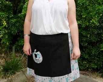 Black a line skirt | Etsy