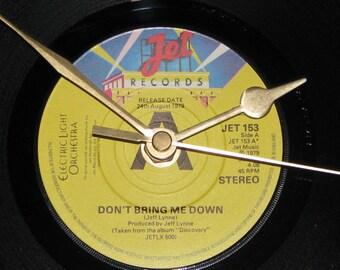 "ELO Don't bring me down  7"" vinyl record clock"